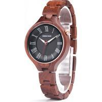 Relógio Design Madeira Dododeer-A09 - Preto