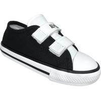 Tênis Infantil Converse All Star Ct Border 2 Velcros Baby - Unissex-Preto+Branco