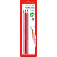 Lápis Preto - Nº 2B - Ecolápis Color Grip - 3 Unidades - Faber-Castell