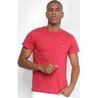 Camiseta Polo Rg 518 Bordado Color Masculina - Masculino-Vermelho