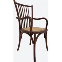 Cadeira Ranch Com Braço Carvalho Americano Escuro Opção De Madeira
