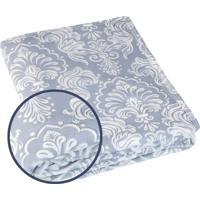 Manta Fleece 3D Casal Estampada Harmonie 2,10 M X 2,30 M Com 1 Peça - Produto Importado Lepper Cinza