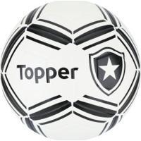 Bola De Futebol De Campo Do Botafogo Ii Topper - Branco Preto 90d35662e676c