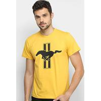 Camiseta Ford Mustang Triple Horse Masculina - Masculino-Amarelo