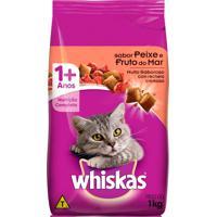 Ração Para Gatos Whiskas Sabor Peixe E Frutos Do Mar Com 1Kg