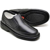 Sapato Ortopédico Masculino Tamanho Especial Em Couro Indicado Para Diabéticos Preto 2009