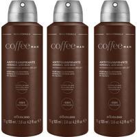 Combo Desodorante Coffee Man: 3 Unidades