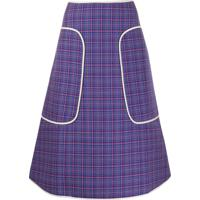 Sofie D'Hoore Check-Print Midi Skirt - Azul
