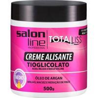 Creme Alisante Salon Line - Argan Oil Médio - 500G - Unissex-Incolor