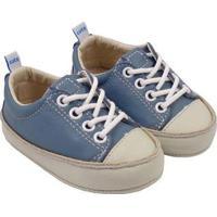 Tênis Infantil Couro Catz Calçados Noody Cadarço - Unissex-Azul Claro