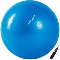 Bola De Pilates Poker Suiça Gym Ball C/ Bomba De Ar 65Cm 09093-Az, Cor: Azul, Tamanho: Único