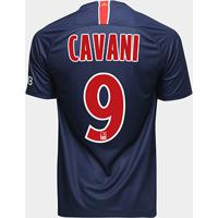 d6d18f59a2262 ... Camisa Paris Saint-Germain Home 18 19 Nº 9 Cavani Torcedor Nike  Masculina -