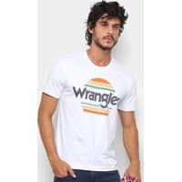 Camiseta Wrangler Estampa Sol Masculina - Masculino-Branco