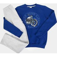 Conjunto Infantil Moletom Brandili Motor Garage Masculino - Masculino-Azul