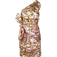 Moschino Fantasy Print Ruched Mini Dress - Neutro