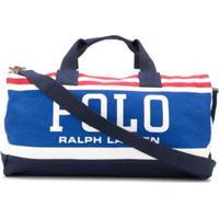 Polo Ralph Lauren Striped-Logo Duffle Bag - Branco