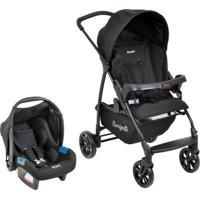 Carrinho De Bebê Travel System Ecco+Touring Evolution Se-Preto