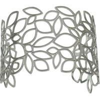 Bracelete Com Recortes Vazados- Prateado- Regulávelpri Schiavinato