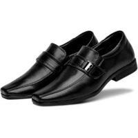 Sapato Social 3Ls3 Feminino - Masculino-Preto