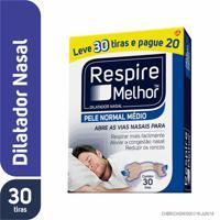 Respire Melhor Pele Normal Tamanho Médio 30 Tiras