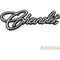 "Letreiro - Alternativo - Opala/Caravan 1975 Até 1992 - Chevette 1973 Até 1993 - 'Chevrolet"" - Manuscrito - Adesivo - Cromado - Cada (Unidade)"
