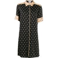 Escada Sport Polka-Dot Shirt Dress - Preto