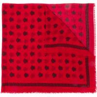 Versace Cachecol Medusa De Seda - Vermelho
