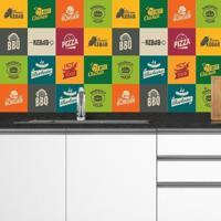 Adesivo Azulejos Foods (15X15Cm)