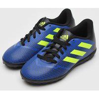 Chuteira Adidas Infantil Artilheira Iv Society Jr Azul-Marinho