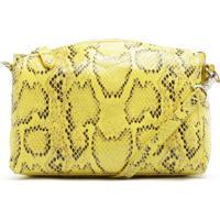 Crossbody Lili Python Yellow   Schutz