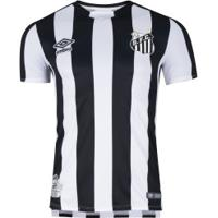 Camisa Do Santos Ii 2019 Umbro - Jogador - Preto/Branco
