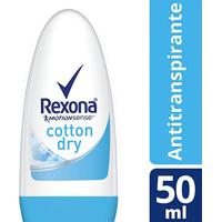 Desodorante Antitranspirante Rexona Feminino Roll On Cotton Dry 50Ml - Feminino-Incolor