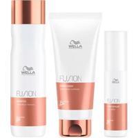 Kit Wella Professionals Fusion Shampoo + Condicionador + Tratamento - Unissex-Incolor