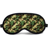 Máscara De Dormir Tritengo Camuflagem - Unissex-Verde+Marrom