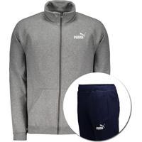 Agasalho Puma Clean Sweat Suit Cl Cinza