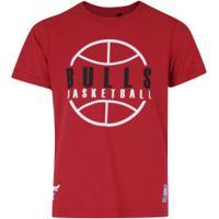Camiseta Nba Chicago Bulls Outline - Infantil - Vermelho