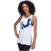 Camiseta Regata Fila Honey Ii - Feminina - Branco/Azul Esc