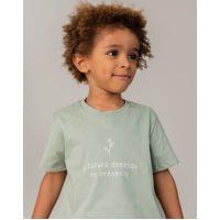 Amaro Feminino Quintal Camiseta Infantil Algodão Orgânico Futuro, Verde