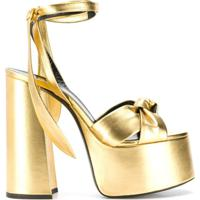 Saint Laurent Sandália Plataforma 'Paige' - Dourado