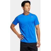 Camiseta Adidas Tech H Rdy 3Stripes Masculina - Masculino-Azul
