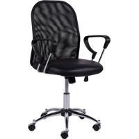 Cadeira De Escritório Diretor Soft Preta