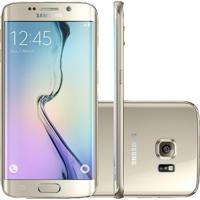 "Smartphone Samsung Galaxy S6 Edge Dourado - 32Gb - Octa Core - Câmera 16Mp - 4G Lte - Super Amoled 5.1"" - Android 5.0"