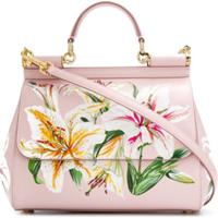 Dolce & Gabbana Bolsa Tote Floral - Rosa
