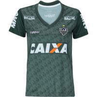 Camisa De Treino Do Atlético-Mg 2018 Topper - Feminina - Verde Escuro