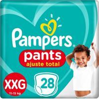 Fralda Pampers Pants Ajuste Total Mega Tamanho Xxg 28 Unidades