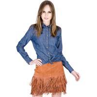 Camisa Jeans Com Bordado Colcci - Feminino