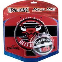 Tabela De Basquete Spalding Chicago Bulls Micro Mini + Minibola - Infantil - Vermelho/Preto