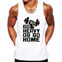 Camiseta Regata Criativa Urbana Frases Engraçadas Academia Go Home - Masculino-Branco