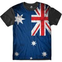 Camiseta Bsc Bandeira Austrália Sublimada Masculina - Masculino