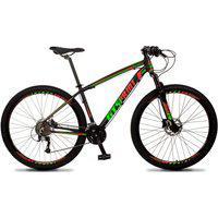 Bicicleta Aro 29 Quadro 17 Alumínio 27V Freio Hidráulico Volcon Preto/Vermelho/Verde - Gt Sprint
